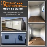 SEMI COMPLETED 6m x 2,5m PRE-FABRICATED UNIT