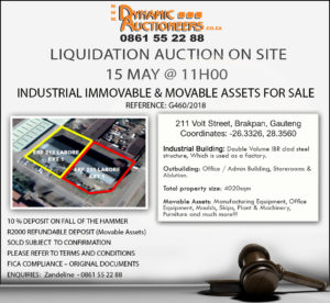 Foundry Movable and Immovable Assets Auction