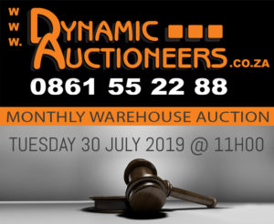 MONTHLY WAREHOUSE AUCTION @ DYNAMIC AUCTIONEERS WAREHOUSE