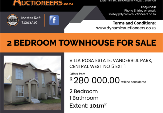 2 Bedroom Property for sale in Vanderbijl Park